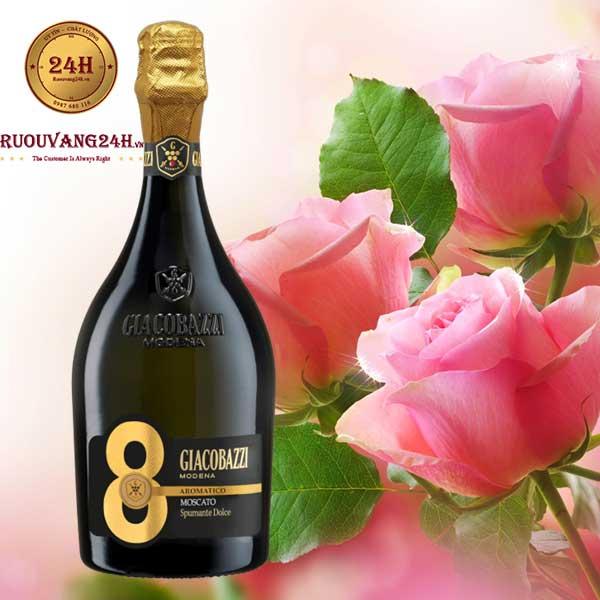Rượu Vang Giacobazzi 8 Moscato Spumante Dolce