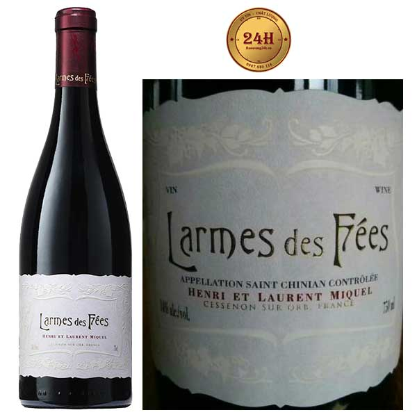 Rượu Vang Laurent Miquel Larmes Des Fees Saint Chinian