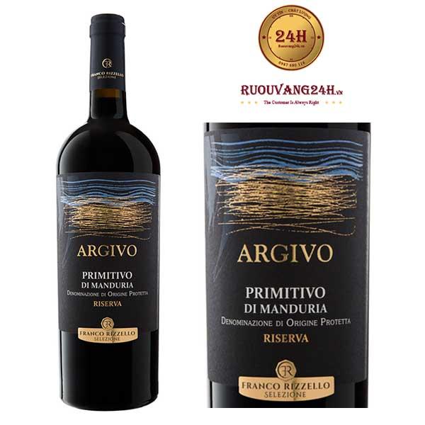 Rượu Vang ARGIVO Riserva Primitivo Di Manduria