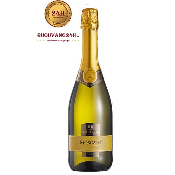 Rượu Vang Nổ Moscato Capetta Spumante