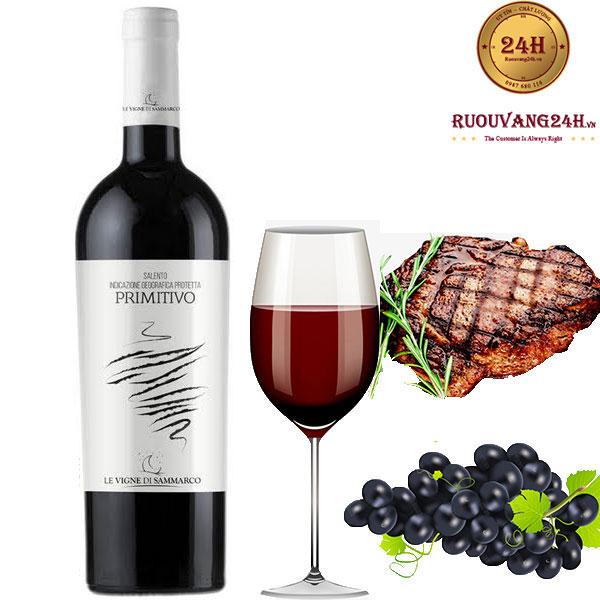 Rượu Vang Primitivo Le Vigne Di Sammarco