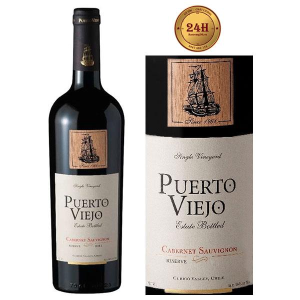 Rượu Vang Puerto Viejo Reserva Cabernet Sauvignon