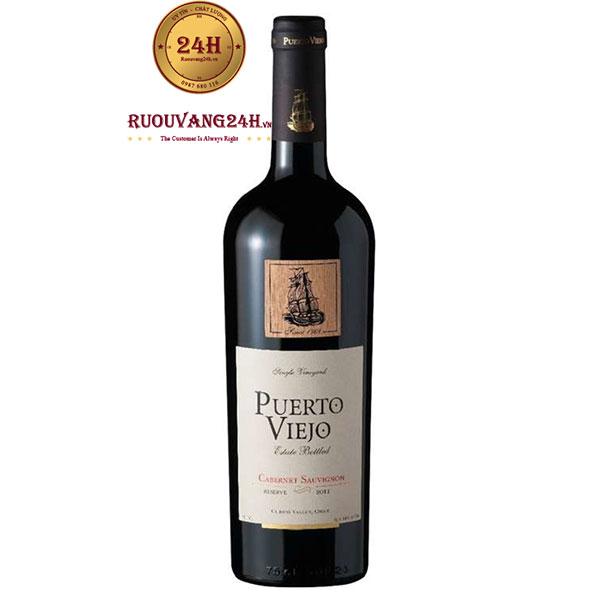 Rượu Vang Puerto Viejo Reserva Cabernet Sauvignon – Mác Gỗ
