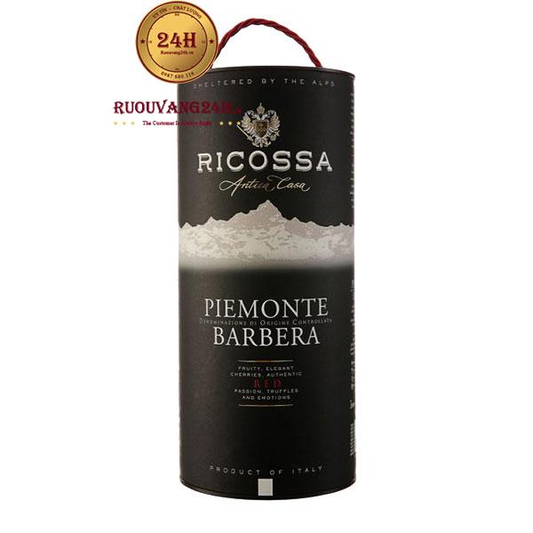 Rượu Vang Bịch Ricossa Piemonte Barbera 3L