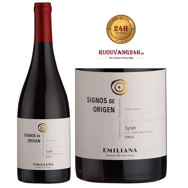Rượu Vang Emiliana Signos de Origen Syrah