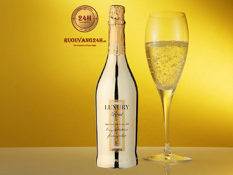 Rượu Sparkling Wine Luxury Brut Gold