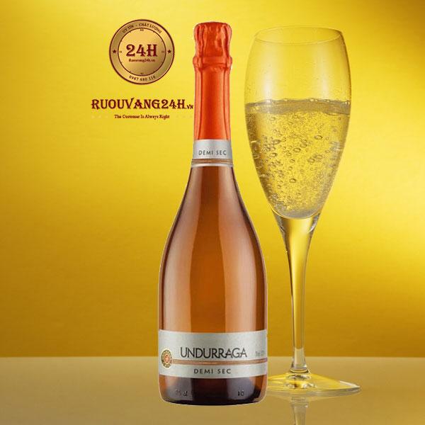 Rượu Champagne Undurraga Demi Sec