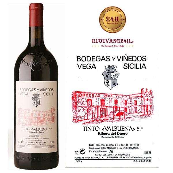Rượu Vang Vega Sicilia valbuena 5