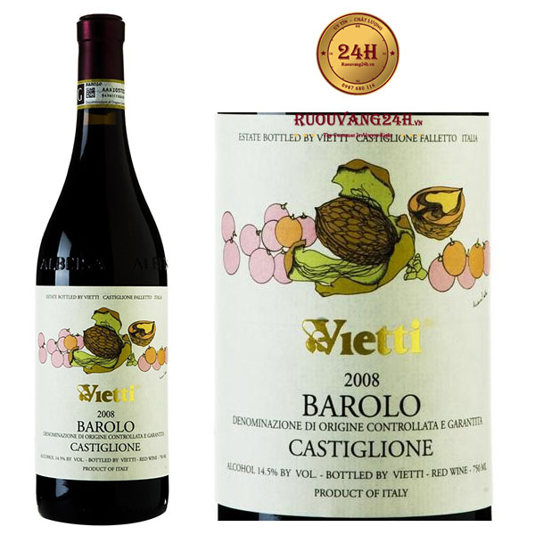 Rượu Vang Vietti Barolo Castiglione