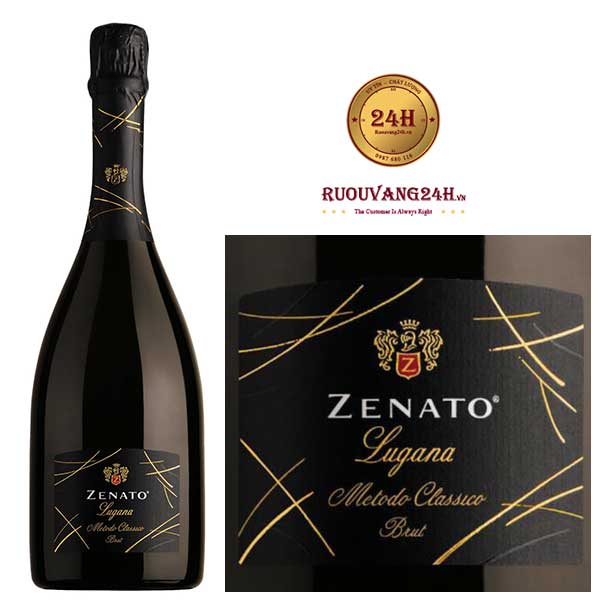 Rượu Vang nổ Zenato Lugana Brut Metodo Classico