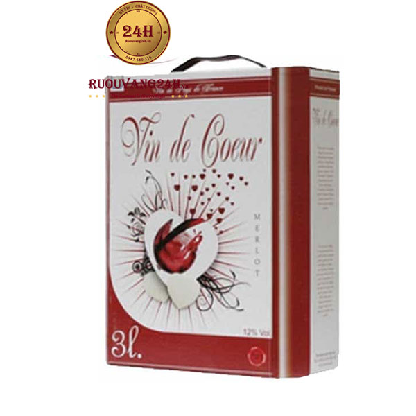 Rượu Vang Bịch Vin De Coeur 3L