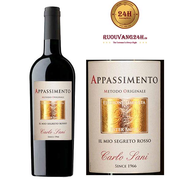 Rượu vang Carlo Sani Ester 99 Appassimento Negroamaro Passito Salento