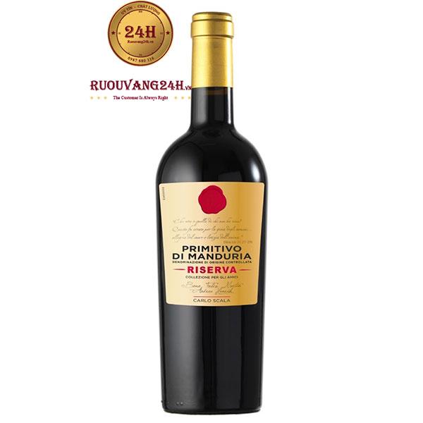 Rượu vang Carlo Scala Riserva Primitivo Di Manduria