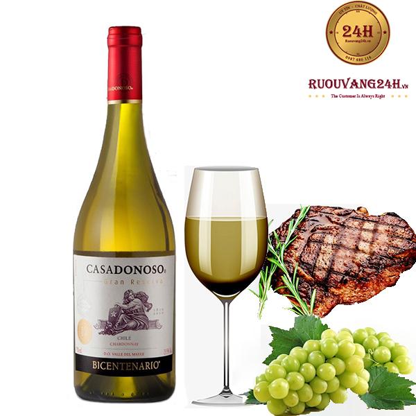 Rượu vang Casadonoso Gran Reserva Chardonnay
