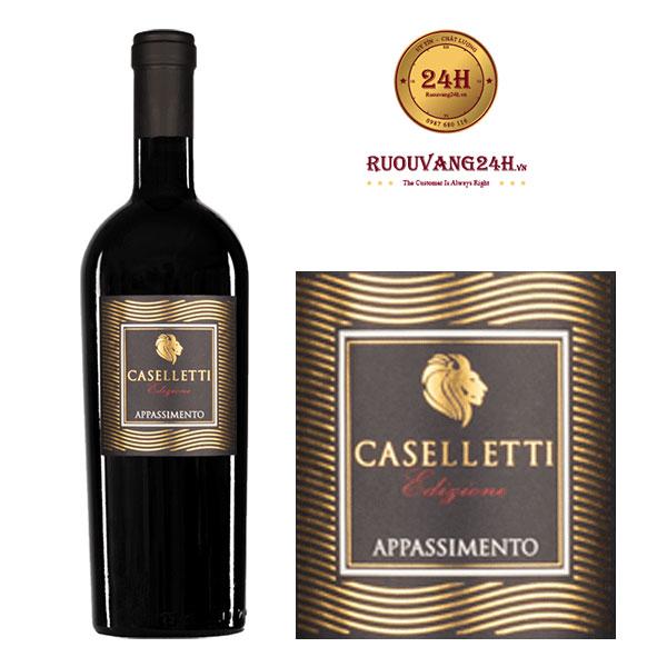 Rượu vang Caselletti Appassimento