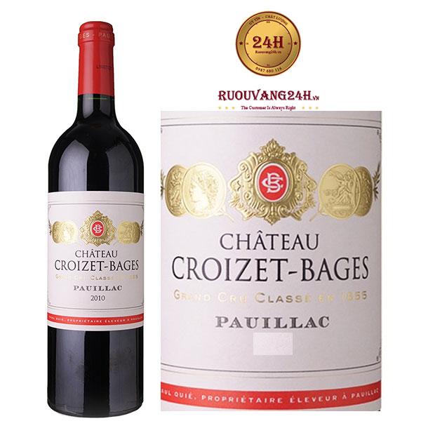 Rượu vang Chateau Croizet – Bages