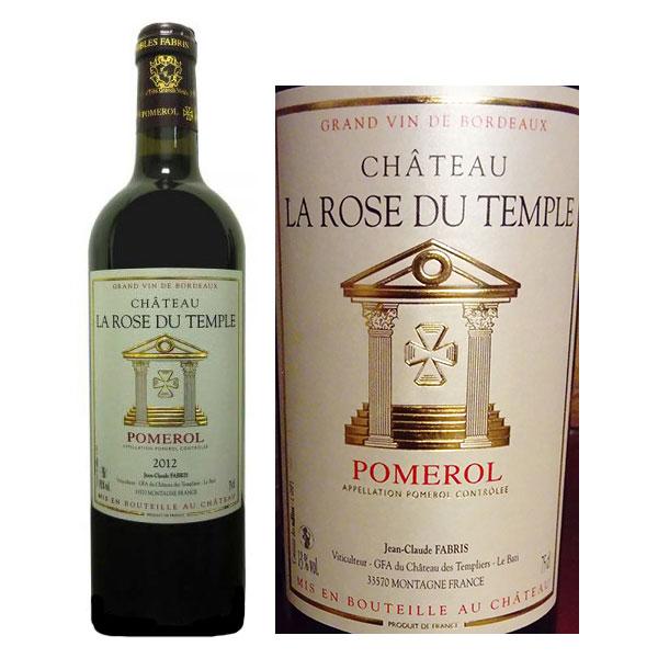 Rượu vang Chateau De La Rose Du Temple