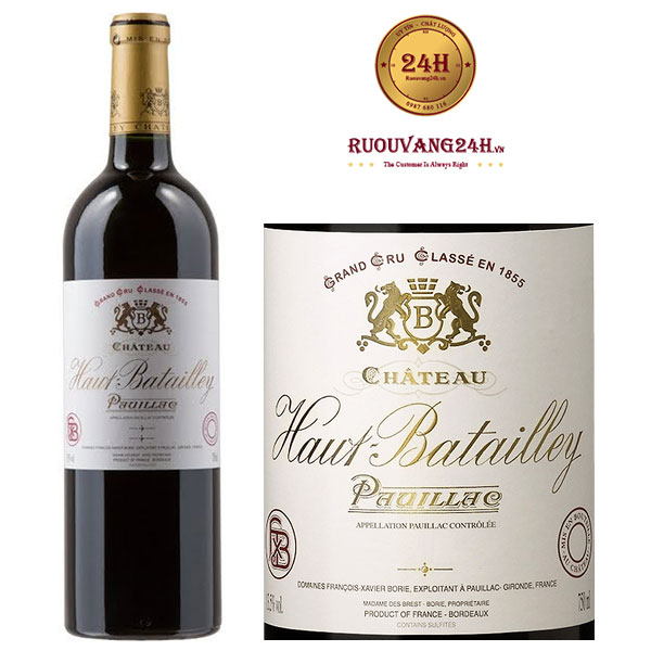 Rượu vang Chateau Haut Batailley Pauillac Bordeaux
