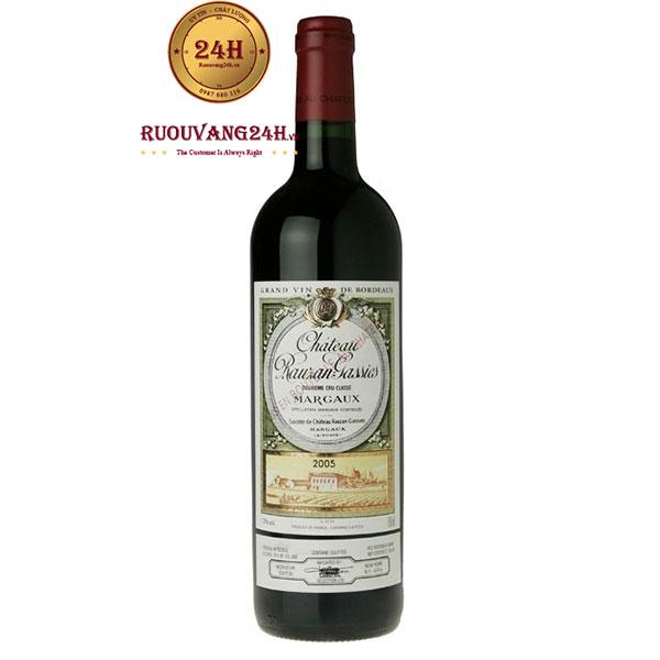 Rượu vang Chateau Rauzan Gassies Margaux