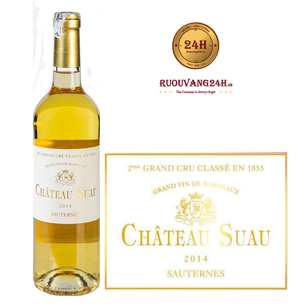 Rượu vang Chateau Suau Sauternes Grand Cru Classé