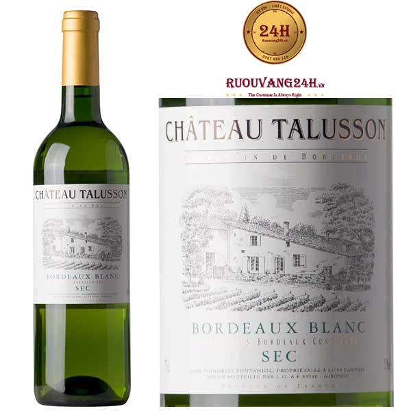 Rượu vang Chateau Talusson White