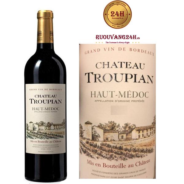 Rượu vang Chateau Troupian Haut Medoc
