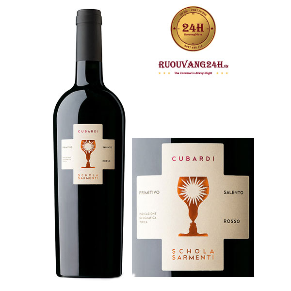 Rượu vang Cubardi Primitivo
