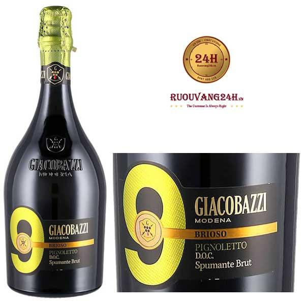 Rượu vang Giacobazzi 9 Pignoletto Brut