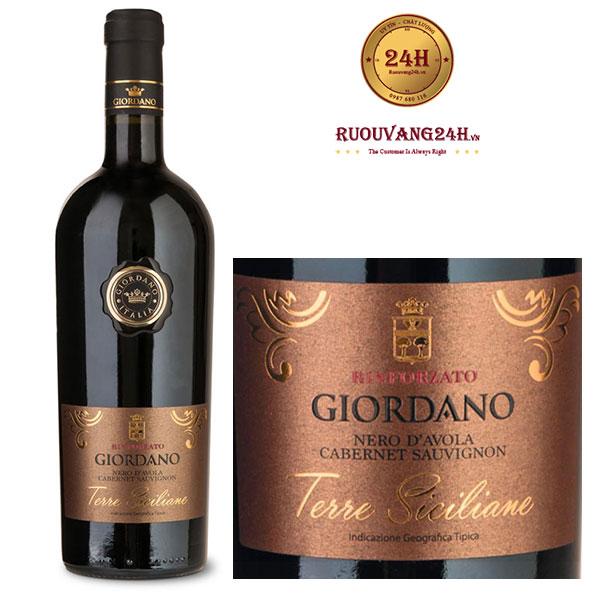 Rượu vang Giordano Terre Siciliane Nero D'AvolaCabernet Sauvignon