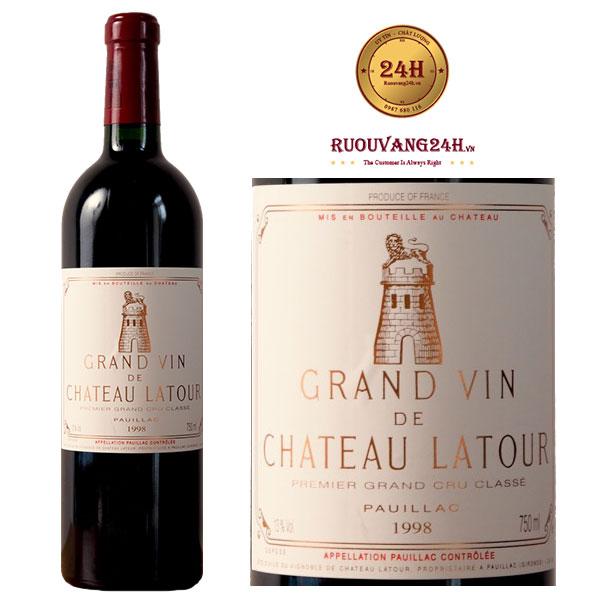 Rượu vang Grand Vin de Chateau Latour 1998