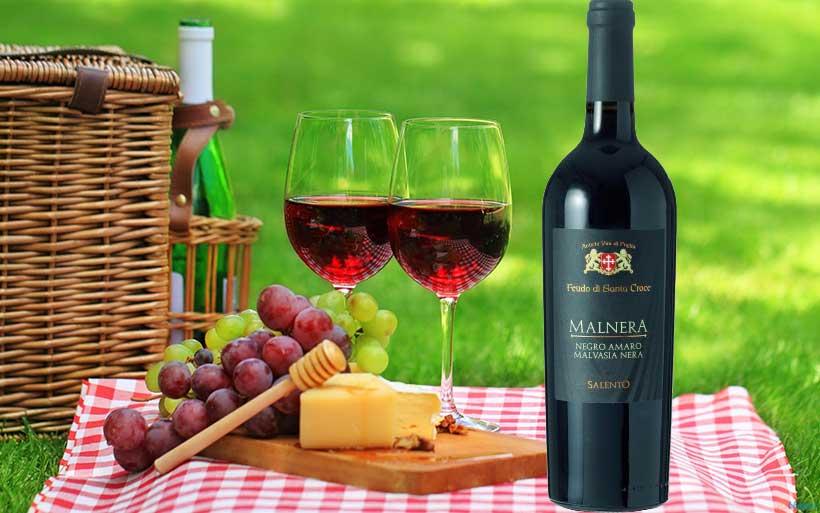 Rượu vang Malnera Negroamaro Malvasia Nera Salento Giorgio