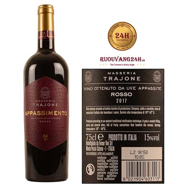 Rượu vang Masseria Trajone Appassimento