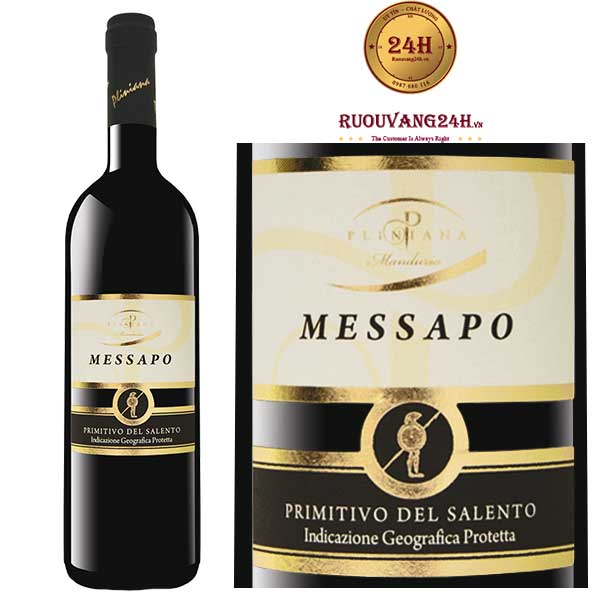 Rượu vang Messapo Rosso Primitivo Salento IGP