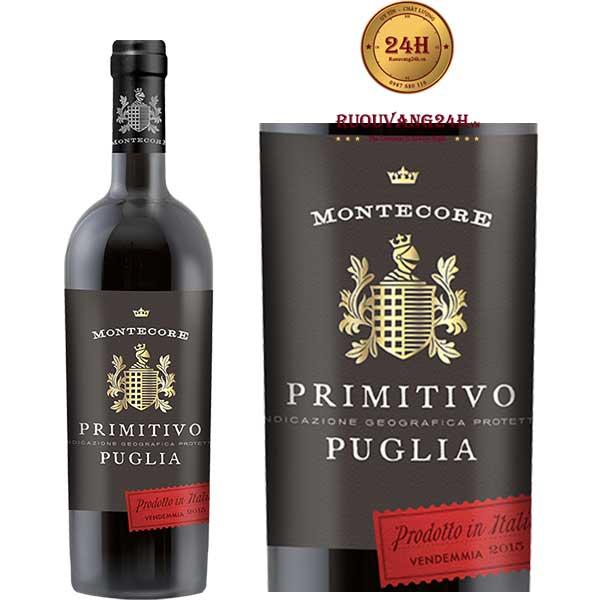 Rượu vangMontecore Primitivo I.G.P