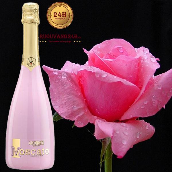 Rượu vang Moscato Rose' Sparkling Sweet Rose In Pink Flute