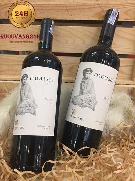 Rượu vang Mousai Merlot