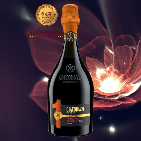 Rượu vang Nổ Giacobazzi 1 Lambrusco Di Sorbara Elegante