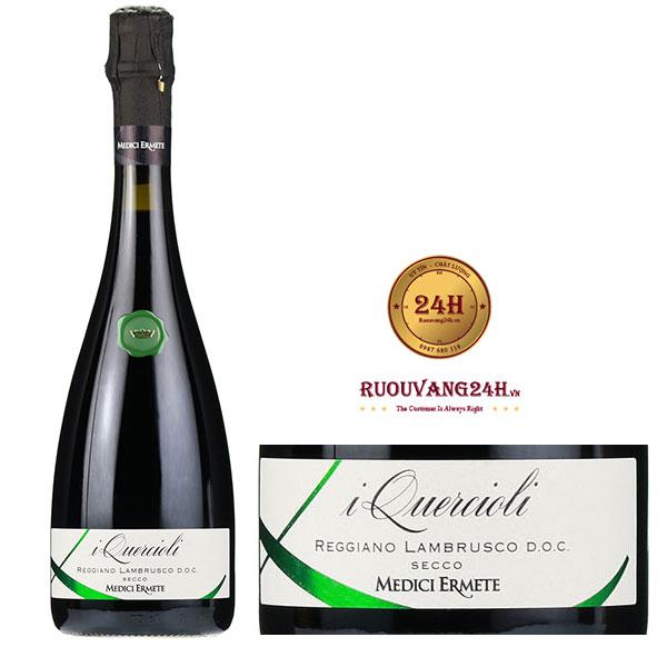 Rượu vang Nổ Quercioli Lambrusco