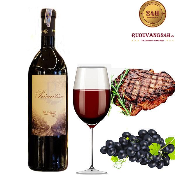 Rượu Vang P Primitivo Bramato