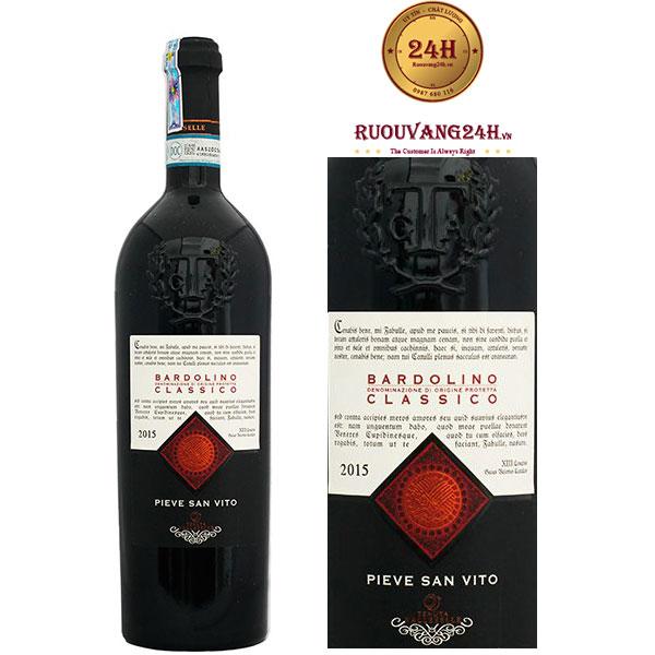 Rượu vang Pieve San Vito Bardolino Clasico