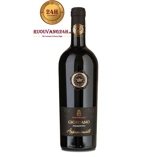 Rượu Vang Giordano Primitivo Appassimento