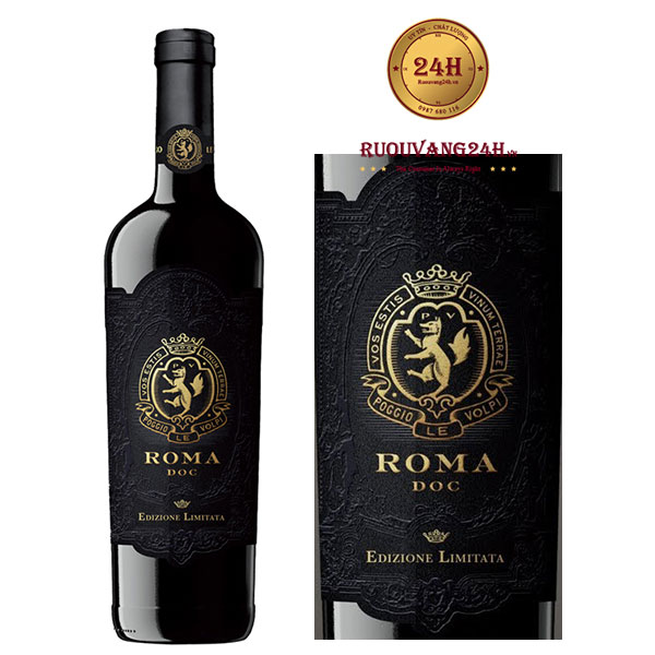 Rượu vang Roma Rosso Edizione Limitata D.O.C