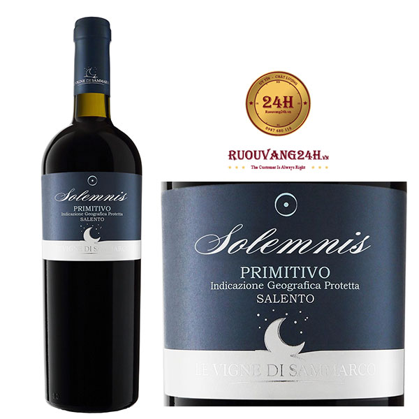 Rượu vang Solemnis Primitivo Salento