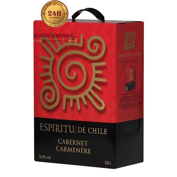 Rượu Vang Bịch Espiritu De Chile 3L