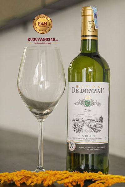Rượu Vang Baron De Donzac Vin Blanc