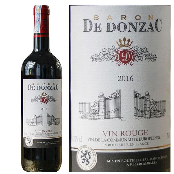Rượu Vang Baron De Donzac Vin Rouge