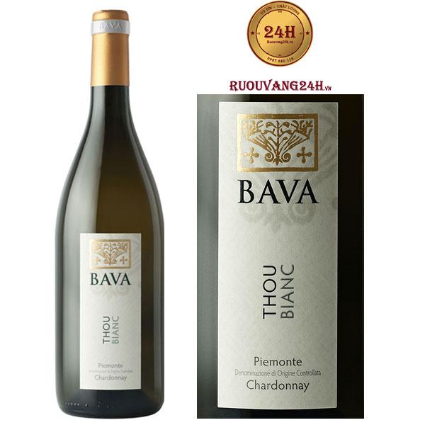 Rượu Vang Bava Thou Bianc Piemonte Chardonnay DOC