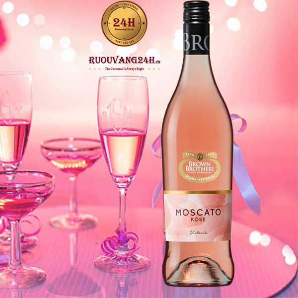 Rượu Vang Brown Brothers Moscato Rosa