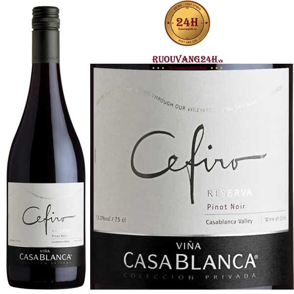 Rượu Vang Casablanca Cefiro Reserva Pinot Noir