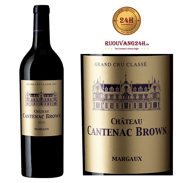Rượu Vang Château Cantenac Brown Margaux